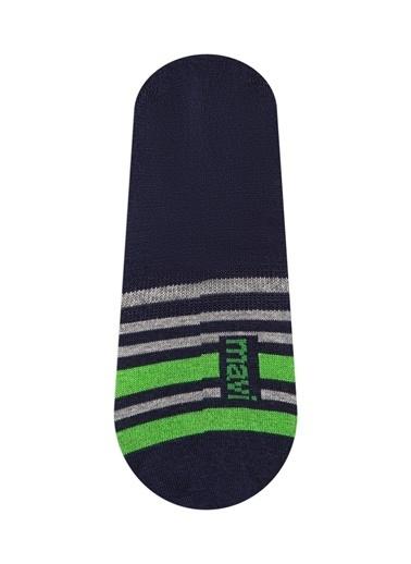 Mavi Çizgili  Çorap Lacivert